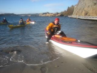 Aktive havpadlere på tur