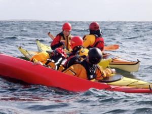Havpadlerne trener på redning!