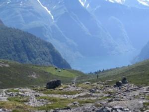 utsikt inn Nærøfjorden