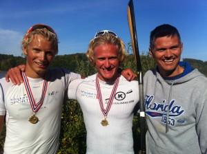 Lars Hjemdal, Eivind Vold og trener Tom Selvik