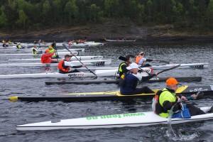 Startlinja på Oslo Surfski Open