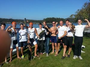 OKKs seniorer i lagbåt NM 2014