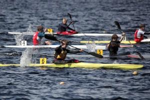Brede Haugland i gul båt