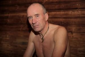 Oluf er klubbens badstueoppmann! Foto: Christin Aronsen