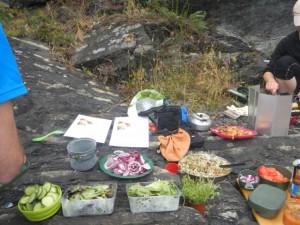 Gourmetmat på padletur!