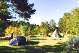 Flott teltleir for deltakerne på OKK´s Lavterskeltur