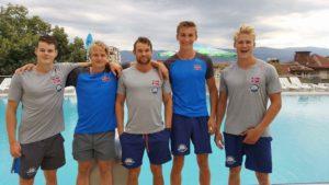 OKKs EM-padlere fra venstre: Elling, Marcus, Per Christian, Amund, Eivind