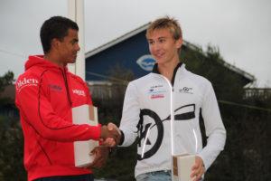 Norgescupvinnnerne i junior (Hakeem Teland) og senior (Amund Vold)