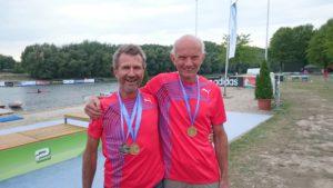 Einar og Jørgen tok gull - Bildet er fra 2015 hvor de også tok gull