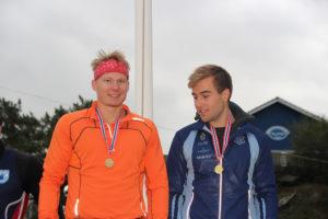 Jo Sondre Solhaug og Mathias Svoren (Asker) tok gull på K2 500 og 1000m